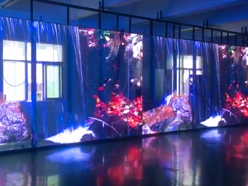 玻璃幕墙透明led显示屏